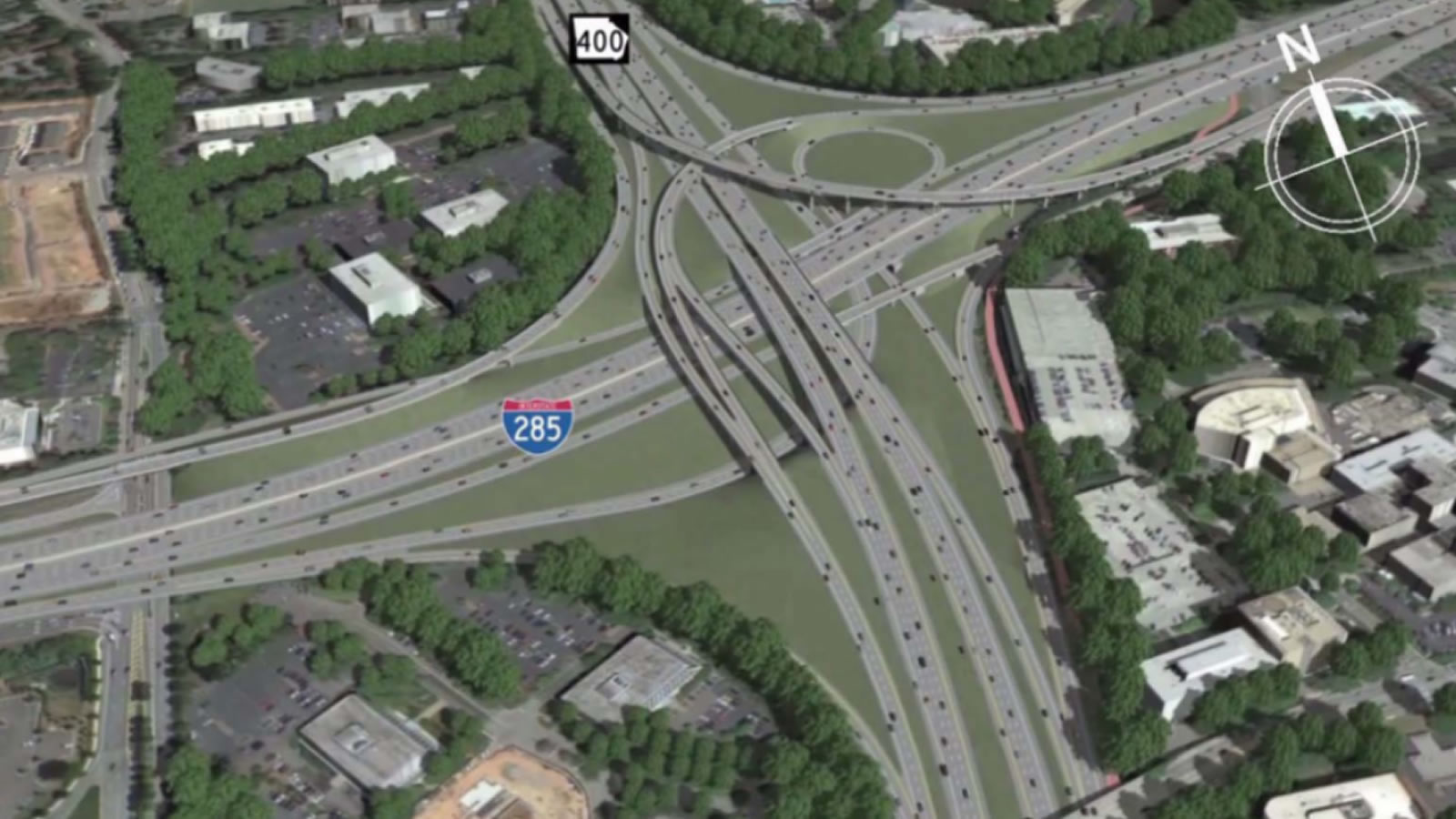 <h3>285 & SR 400 Interchange Rebuilding, Georgia</h3><h4>Cost: $596 million</h4><p>It's a boondoggle because: After morphing far beyond its original scope into one of the most expensive road projects in Georgia history, an $800 million interchange expansion is moving forward – even as Atlanta residents clamor for more and better transit.</p><em>Georgia Department of Transportation</em>